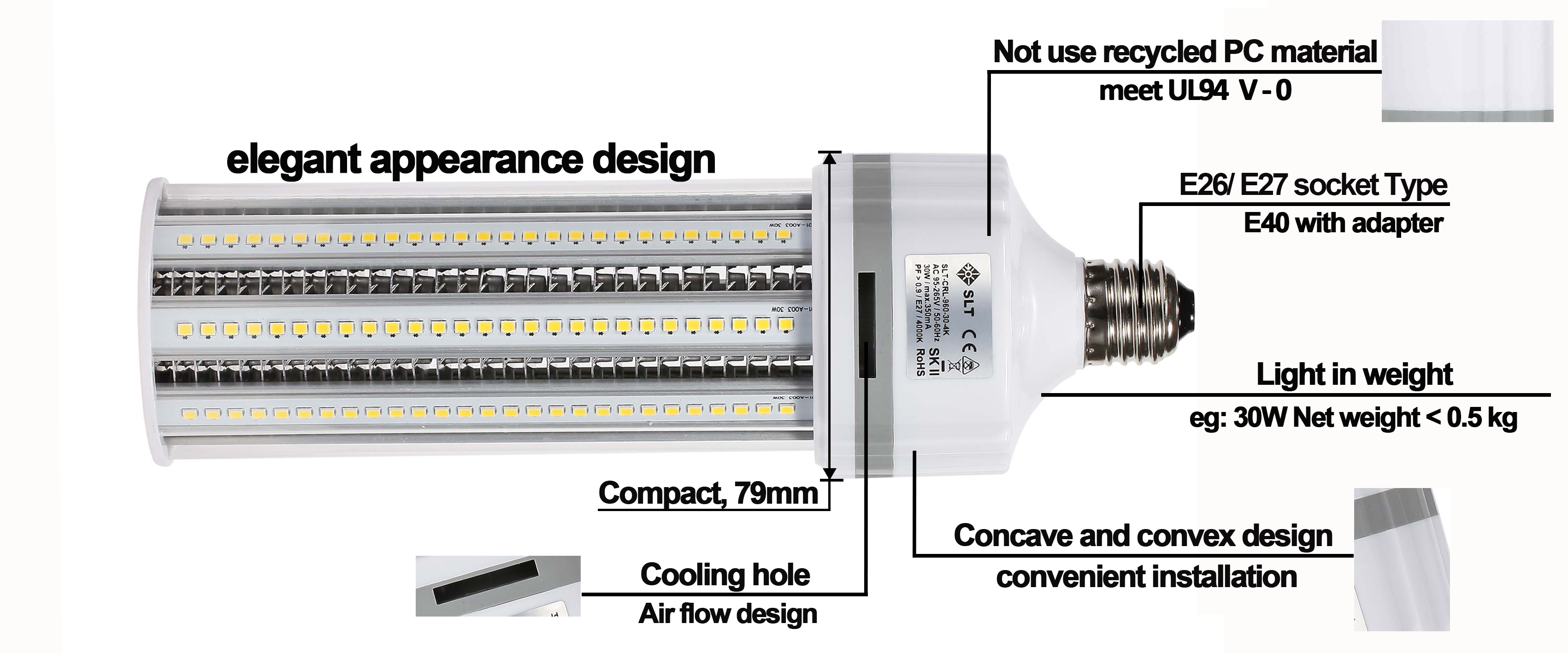 E27 Led Retrofit detailed description